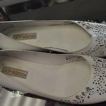 Brighton Melisa Size 10m White Patent Leather Silver Flowers Shoes Ballet Flats Photo