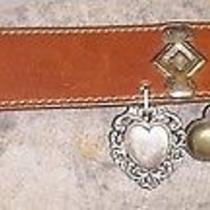 Brighton Metal Charms Belt 1993 Fleur De Lis Art Nouveau Photo