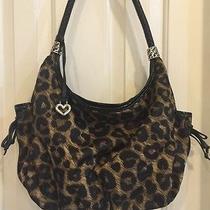 Brighton Microfiber Cheetah Satchel Purse Handbag Photo