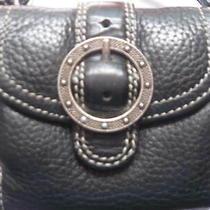 Brighton Mini Wallet Cross-Body Black Pebble-Grain Genuine Leather Photo