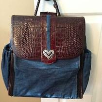 Brighton Mirabella Backpack Denim Leather Diaper Bag Photo