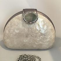 Brighton Mother of Pearl Hard Clutch With Detachable Chain Strap Nwt Photo