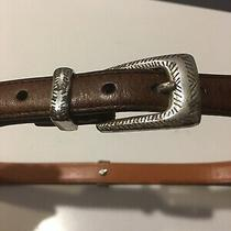 Brighton Multi-Color Cow/horse/pony Hair Concho Leather Belt  36 Xl  Q4800  Photo