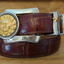 Brighton Museum Collection Belt - Silver & Gold Hdwe. Celestial Theme -Sm. Photo