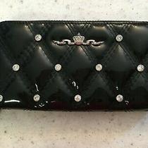 Brighton My Flat in London Black Black Patent Leather Zip Around Wallet/clutch Photo