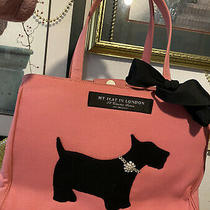 Brighton  My Flat in London Doggy Diva Style Canvas Scotty Terrier Pink Handbag Photo