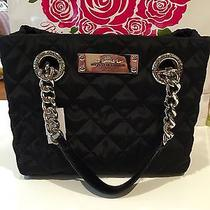 Brighton My Flat in London Tote Quilted Black Handbag Photo