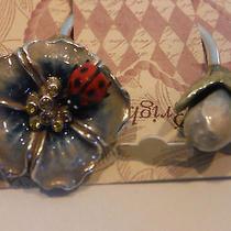 Brighton New Marvels Lady Bug Silver Plated Key Fob Nwt Photo