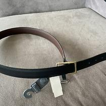 Brighton New Mens Black / Brown Belt Nwt 34 Waist Leather Usa Reversible Nwt Photo