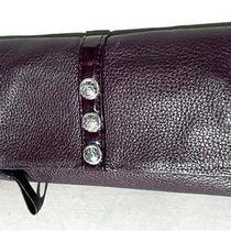 Brighton Nolita Shimmer Large Stud Wallet Loganberry Violet Leather T3353b Nwt Photo
