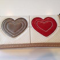 Brighton Nwt Art Heart Leather Wallet Photo