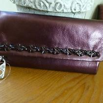 Brighton Nwt Fun House Lg. Wallet  Plum Leather Color Wallet Photo