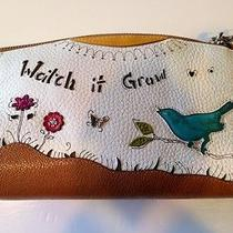 Brighton Nwt Garden Girl Wrist Pouch Front/back Design Photo