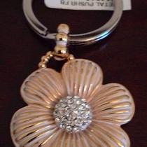 Brighton Nwtpetal Pusher Gold/silver Key Fob Ring/necklace Pendant/gift Pouch Photo