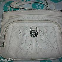 Brighton Off-White Shoulder Handbag Nwtag Leather Photo