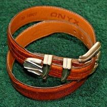 Brighton Onyx Men's Belt Leather Brown Made in Usa Size 30 Sliver Buckle Photo