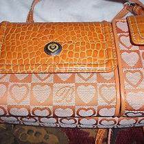 Brighton Orange Heart Print Purse Photo