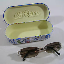 Brighton Orchard Silver Plated Frames Sunglasses 100% Uva Uvb A10731 Photo