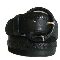 Brighton Patchwork Black Leather Belt    Size 32   Nwt   B31143 Photo