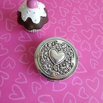 Brighton Pill Holder Container Heart Silver Nwot New No Tag  Photo