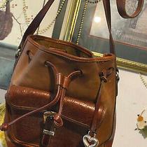 Brighton  Pocket Tote Tooled Leather Western Lg. Vintage Hobo Boho Shoulder Bag  Photo