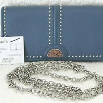 Brighton Pretty Tough Rockmore Nwt 140  Blue Leather Wallet Crossbody Photo