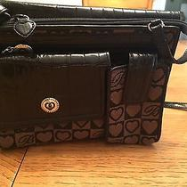 Brighton Purse Black and Brown With Hearts Photo