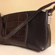 Brighton Purse Black Brown Leather E222497 Braid Strap Classic Beautiful  Photo