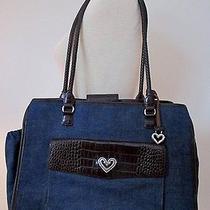 Brighton Purse-Style Diaper Bag Demim/leather Lots of Organization  Photo