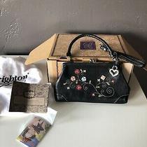 Brighton Purse Twyla New in Box Flowers on Black Leather Small Pretty Photo