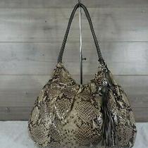 Brighton Python Leather Hobo Shoulder Bag Handbag Tote Purse  Photo