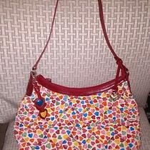 Brighton Quilted Purse/bag Hobo W/ Hearts Photo