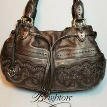 Brighton Rare Pewter Lolita Masterpiece Col Accents Purse Shoulder Handbag Epoc Photo