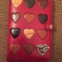 Brighton Red Hearts Leather Address Book Wallet Photo
