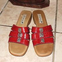 Brighton Red Leather Sandals Photo