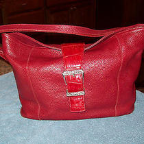Brighton Red Leather Shoulder Bag Handbag Purse Photo