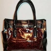 Brighton Renault Cheetah Aristocrat Patent Leather Handbag  Beautiful Photo
