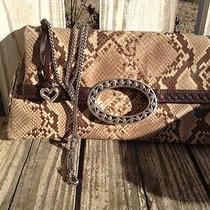 Brighton Reptile Skin Shoulder Bag/clutch Purse Photo