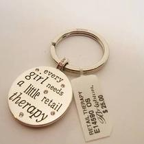 Brighton Retail Therapy Key Fob With Script  See Below..new With Tag Photo
