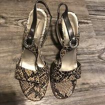 Brighton Rivoli Strappy Heels Sandals Faux Snake Skin Womens Sz 10 Photo