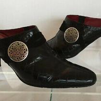 Brighton Romeo Woman's Black Slip on Mules Boots Shoes 8 - Italian Made Photo