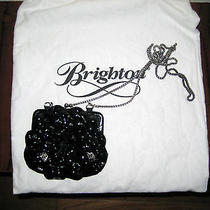 Brighton Rosalie Black Patent Flower Shoulder/hand Bag Purse W/storage Bag Photo