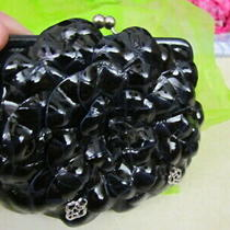 Brighton Roselie Shine Leather Flower Coin Purse  Navy  New Photo