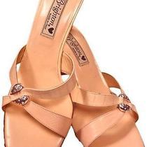 Brighton Roxann Slip on High Heels Blush Pink Open Toe Sandals Sz 8 Photo