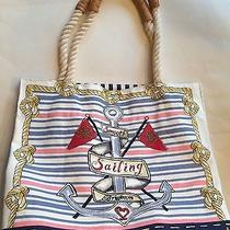 Brighton Sail Into Summer Canvas Tote Nwt 100 Photo
