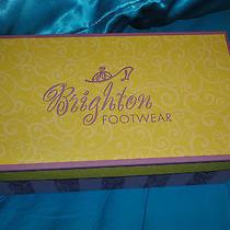 Brighton Sandals  Black With Browntrim  Size 8.5 Gently Worn Photo
