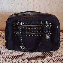 Brighton Shane Black Microfiber Studded Satchel Photo