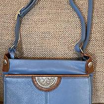 Brighton Shiloh Bay Winter Blue Purse Wallet Organizer Messenger Crossbody Bag Photo