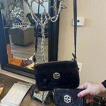 Brighton Shiny Black Leather Purse and Wallet Set Photo