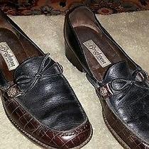 Brighton Shoe - Black and Burgundy - Some Crock Pattern 10m Medium Free Shipping Photo
